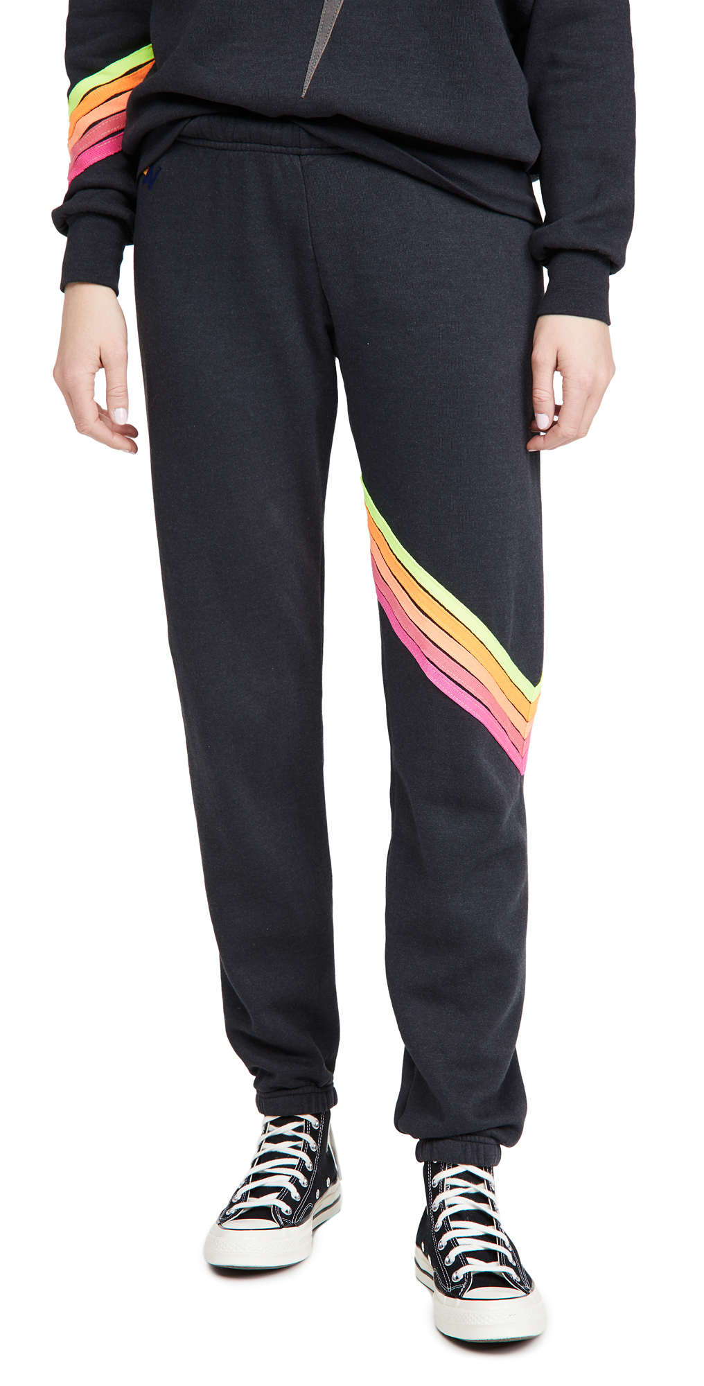 Aviator Nation Chevron 5 Stripe Sweatpants