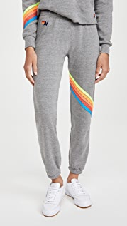 Aviator Nation Chevron 5 Stripe Sweatpants