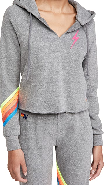 Aviator Nation Bolt Chevron Hoodie