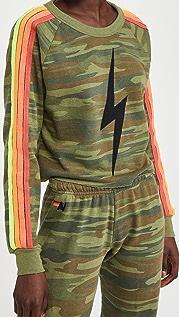 Aviator Nation Bolt Print Camo 4 Stripe Sweatshirt