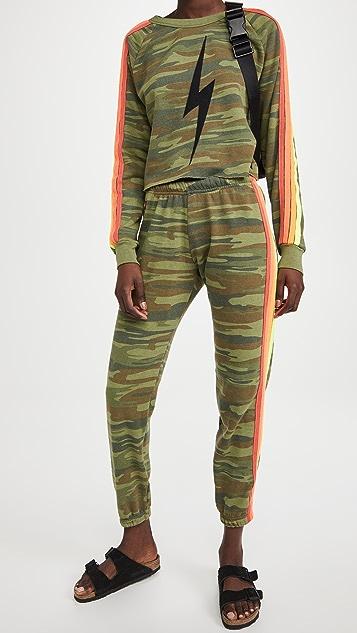Aviator Nation Camo 4 Stripe Sweatpants