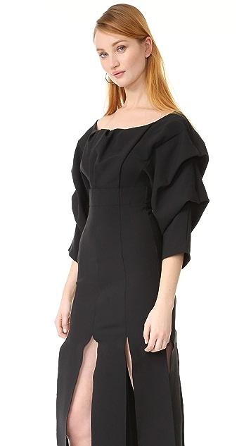 A.W.A.K.E. Draped Sleeve Dress