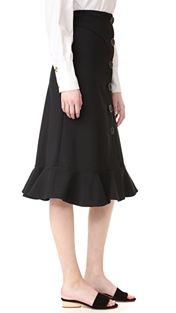 A.W.A.K.E. Button Front Skirt