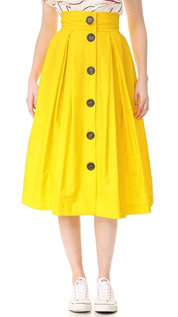 A.W.A.K.E. Button Front Skirt