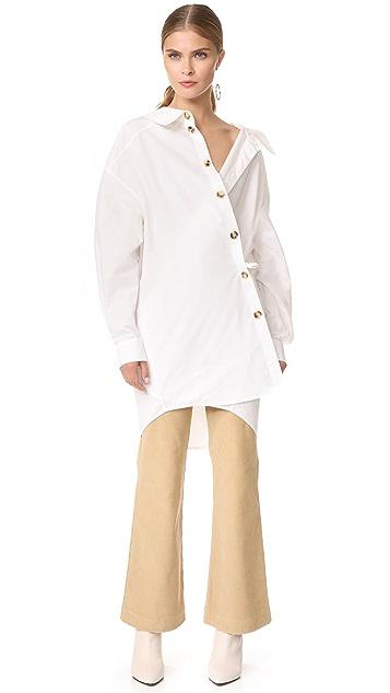 A.W.A.K.E. Wrap Oversized Shirt