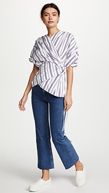 A.W.A.K.E. Wrap Gathered Top