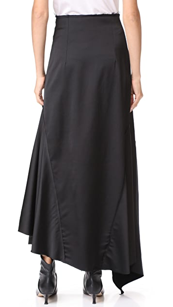 A.W.A.K.E. Asymmetric Wrap Skirt