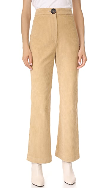 A.W.A.K.E. Crop Wide Leg Turn Up Pants