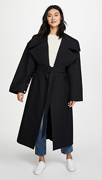 A.W.A.K.E MODE Oversized Coat With Sleeve Details