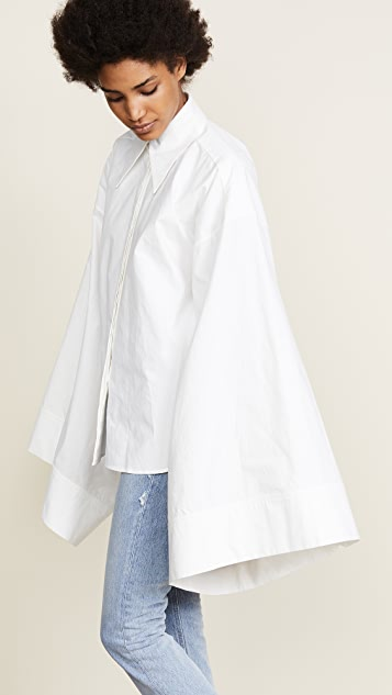 A.W.A.K.E. White Kimono Sleeve Shirt