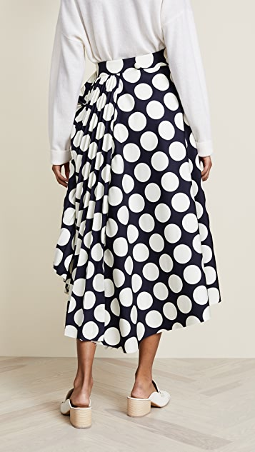 A.W.A.K.E. Giant Polka Dot Skirt with Pleats