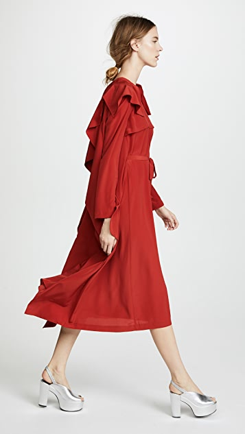 A.W.A.K.E. Inside Out Trench Coat Dress