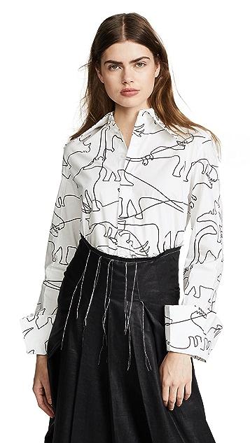 A.W.A.K.E. White Dino Shirt