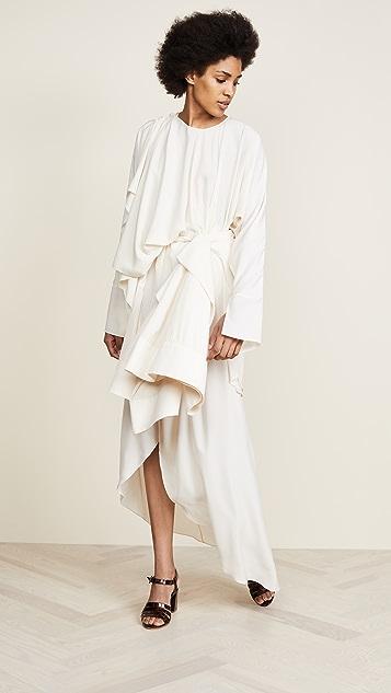 A.W.A.K.E. Shirt Sleeve Wrap Dress