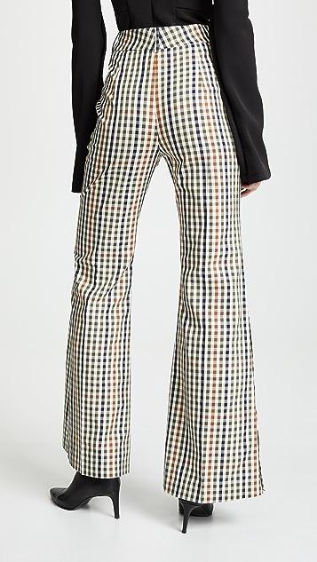 A.W.A.K.E MODE Расклешенные брюки с пуговицами сбоку