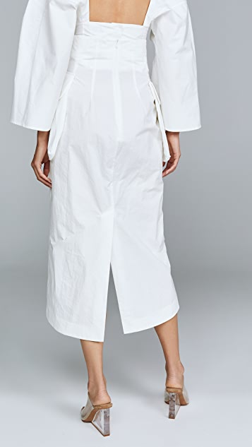 A.W.A.K.E. Midi Slit Skirt