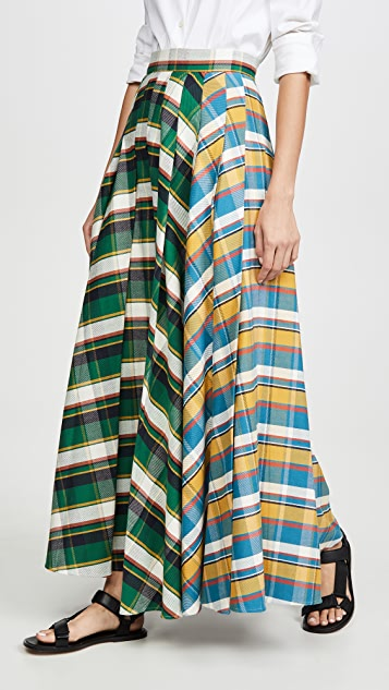 A.W.A.K.E MODE Duncan Mixed Stripe Skirt