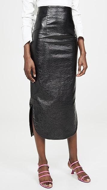 A.W.A.K.E MODE Canyon 金属色质感铅笔裙