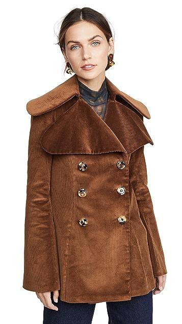 A.W.A.K.E MODE Dorian 棕色灯芯绒夹克