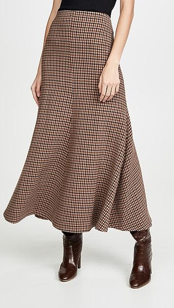 A.W.A.K.E MODE 格子喇叭半身裙