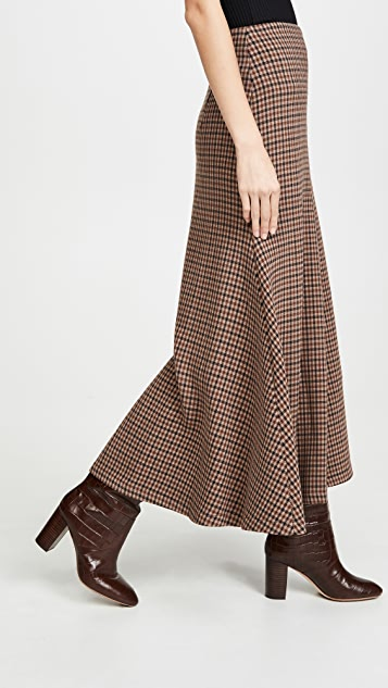 A.W.A.K.E MODE Bell Gingham Skirt