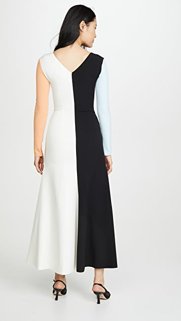 A.W.A.K.E MODE Fluted Maxi Dress