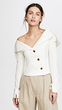 Off Shoulder Jacket Top
