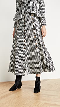 Gingham Multi Panel Skirt