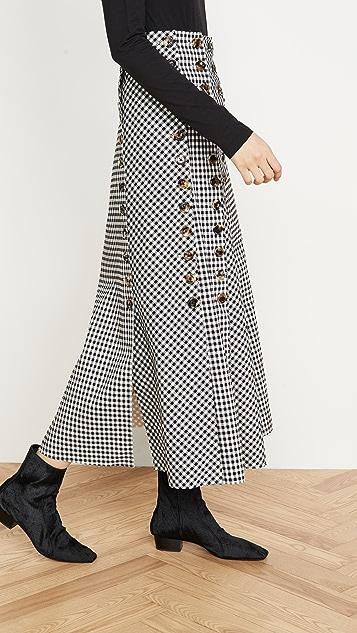 A.W.A.K.E MODE Gingham Multi Panel Skirt