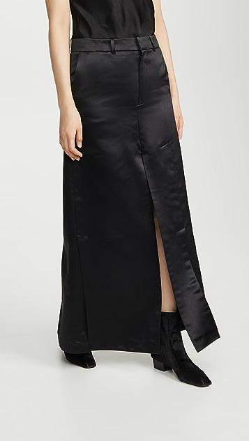 A.W.A.K.E MODE 侧边和正面开衩裤裙