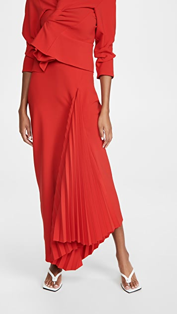 A.W.A.K.E MODE Pleated Maxi Skirt