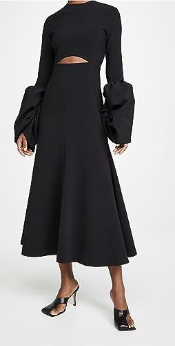 A.W.A.K.E MODE - 泡泡袖长连衣裙