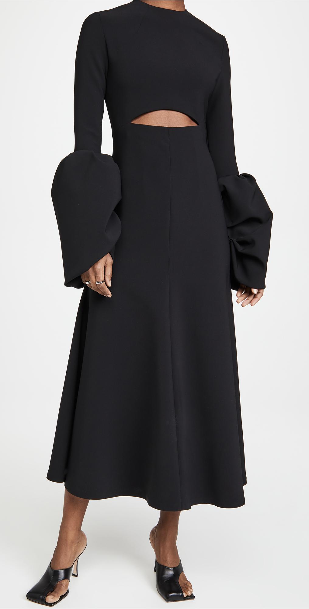 A.W.A.K.E MODE Puff Sleeve Maxi Dress
