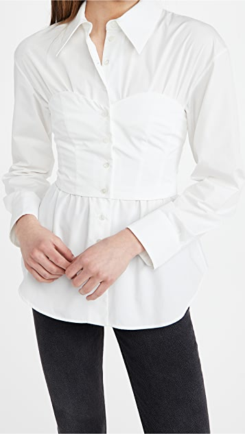 A.W.A.K.E MODE 束胸衬衫上衣
