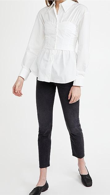 A.W.A.K.E MODE Corset Shirt Top