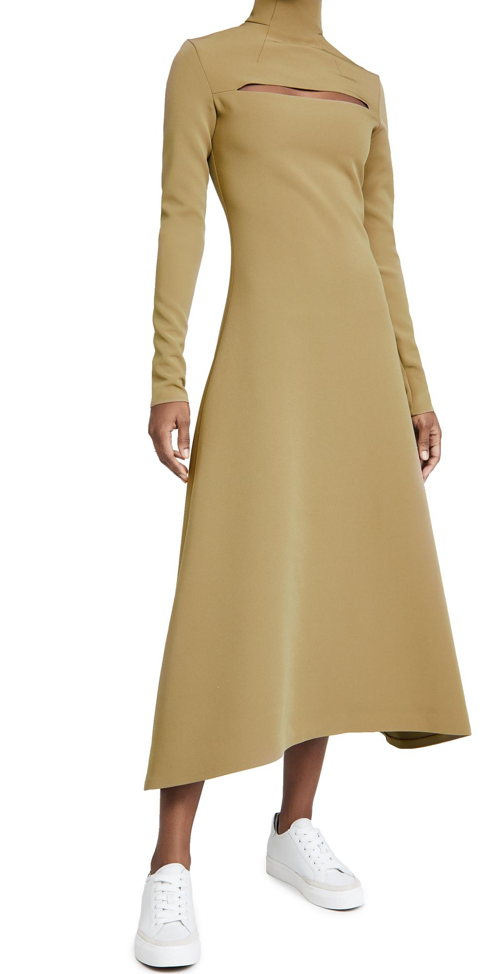 A.W.A.K.E MODE Turtleneck Dress With Cut Out