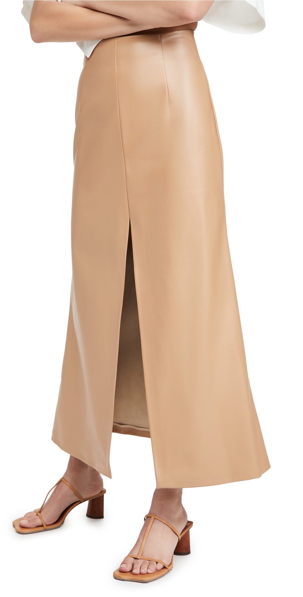 A.W.A.K.E MODE Front Back Slit Maxi Skirt