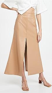A.W.A.K.E MODE Front Back Slit Maxi Skirt