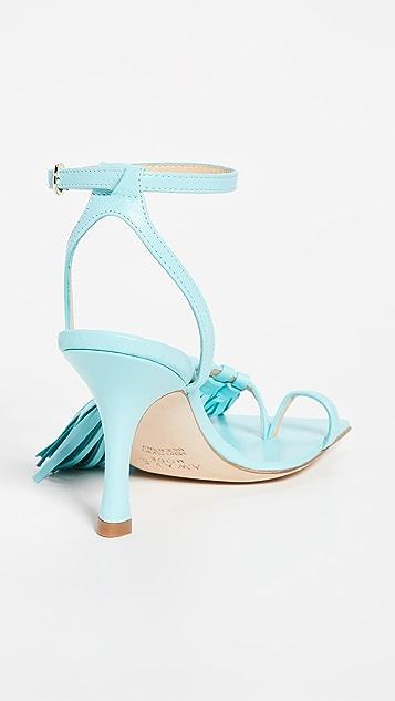 A.W.A.K.E MODE Delta 80mm 流苏凉鞋