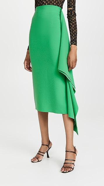 A.W.A.K.E MODE 侧开衩双层中长半身裙