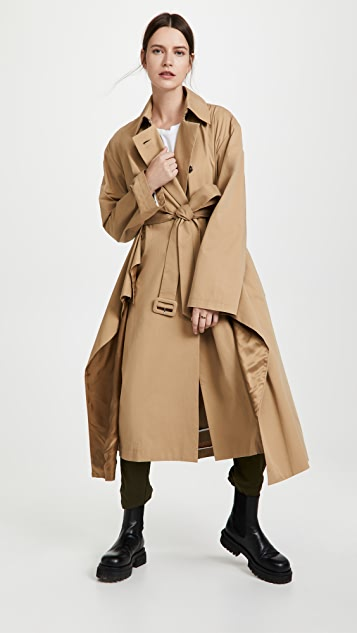 A.W.A.K.E MODE Deconstructed Multilayered Trench Coat