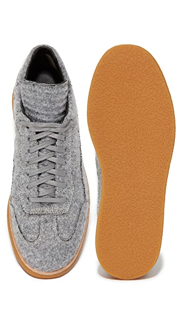 Alexander Wang Eden Felt Low Sneakers