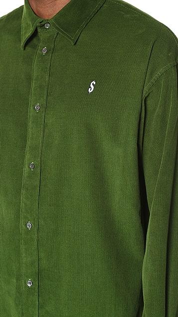 Alexander Wang Cash Embroidered Corduroy Shirt