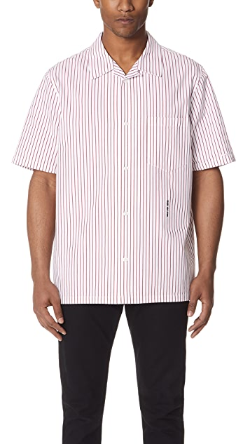 Alexander Wang Stripe Embroidered Shirt