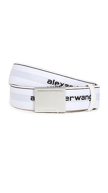 Alexander Wang Elastic Logo Belt