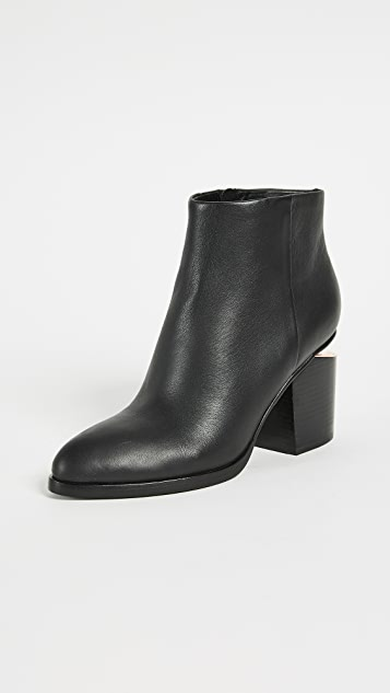 Alexander Wang Gabi Booties - Black/Rose Gold
