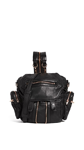 Alexander Wang Mini Marti Backpack with Rose Gold Hardware