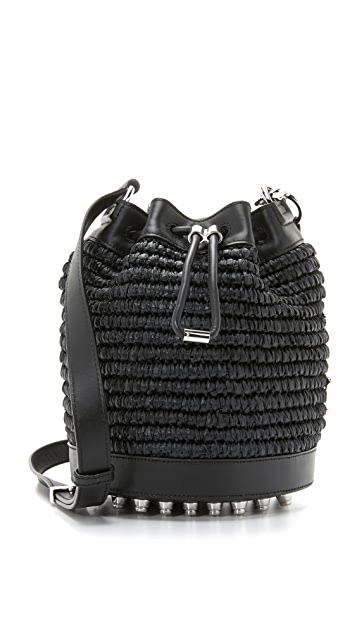 Alexander Wang Straw Bucket Bag