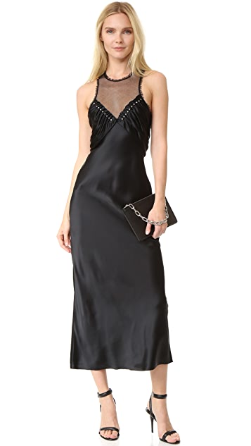 Alexander Wang Slip Dress with Inserted Ball Studs