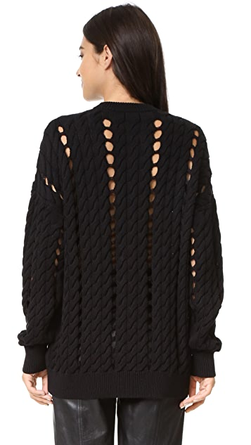 Alexander Wang Cable Pullover with Slits
